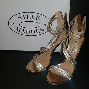 Steve Madden Sweetest Rose Gold Heeled Sandal